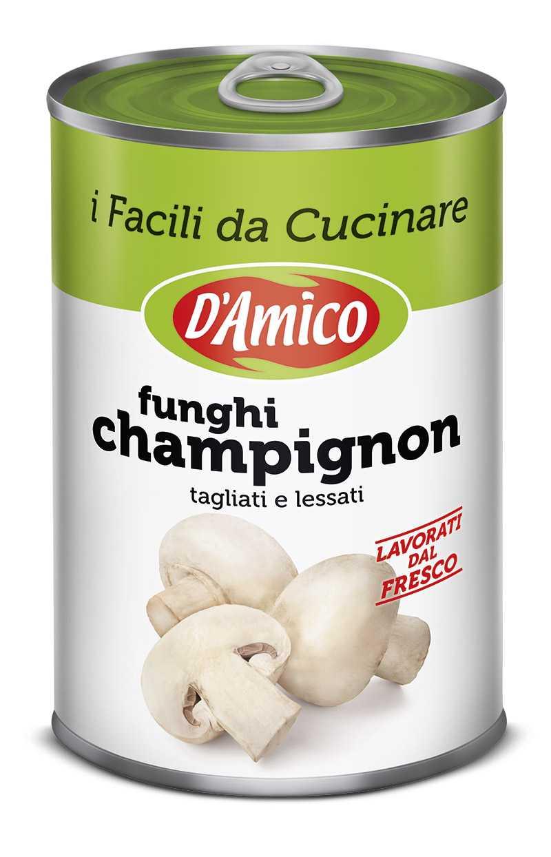 Funghi champignon tagliati