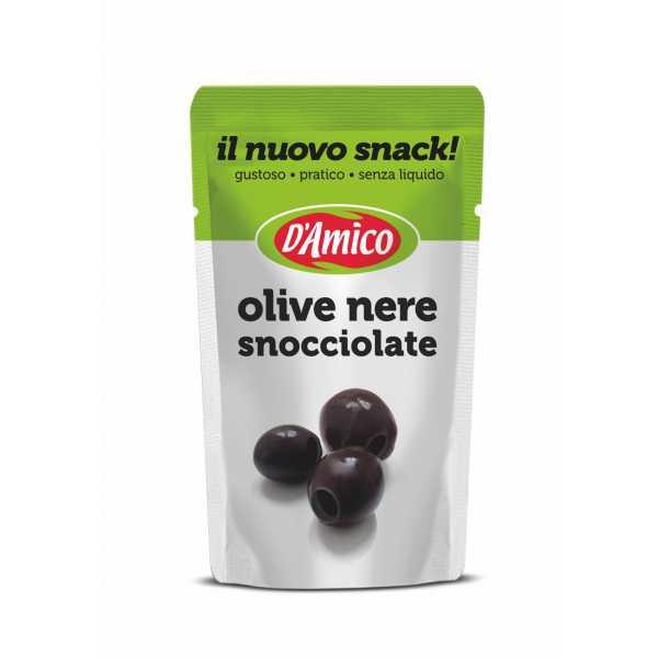 """Olive nere snocciolate """"Il nuovo snack"""""""