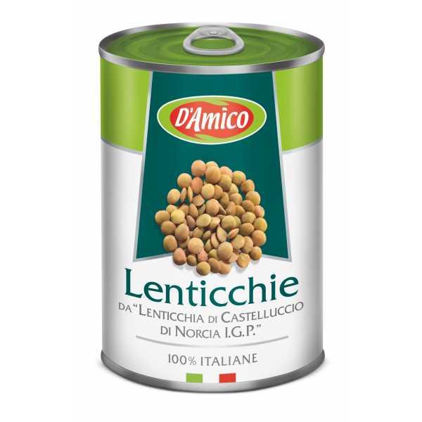 """Boiled Lentils of """"Lenticchia di Castelluccio di Norcia P.G.I.""""."""