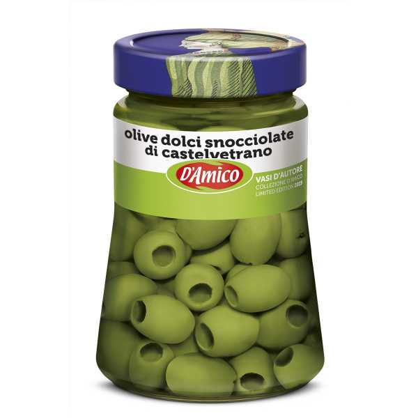 Castelvetrano Pitted Green Sweet Olives - Designer Jar