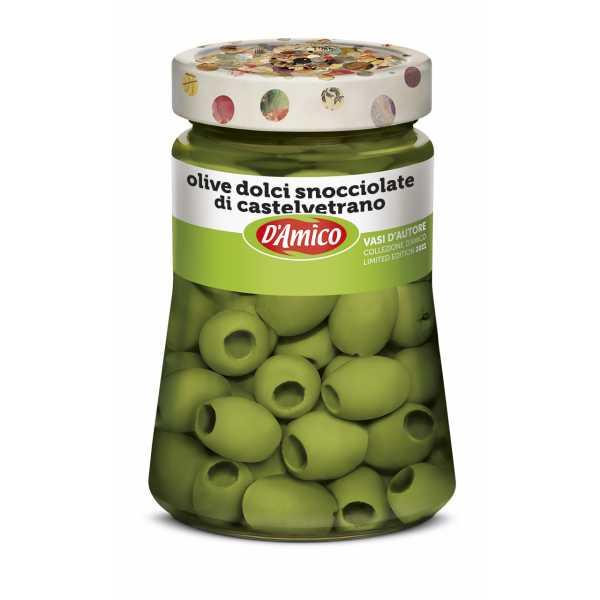 Castelvetrano Pitted Green Sweet Olives - Designer Jar