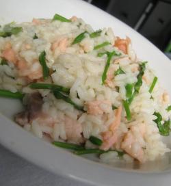 Risotto salmone e asparagi