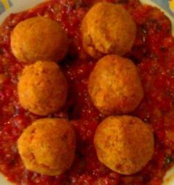 Polpette di Maiale con olive di gaeta e peperoni alla siciliana