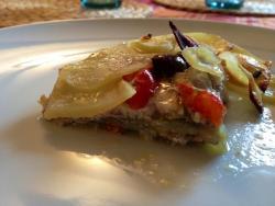 Tortino di sardine, patate e cipolle