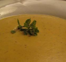 Zuppa di lenticchie con mousse di Chévre