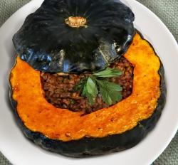 Lentil Stuffed Pumpkin