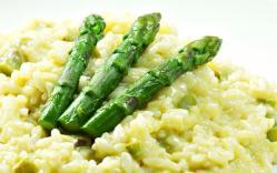 Risotto con asparagi verdi